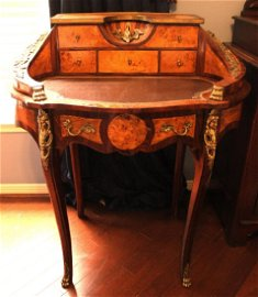 French Style Writing Desk with Brass Mounts