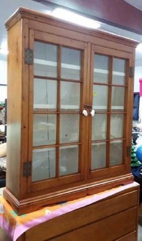 Antique Cabinet with Double Glass Doors