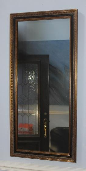 Large Wall Hanging Mirror with Black and Gold Trim