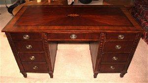 Beautiful Inlaid Executive Desk, by Bassett
