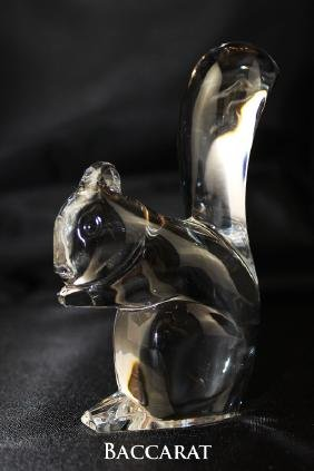 "Baccarat, squirrel. Measures 4.5"" H"