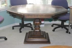 Octagonal Pedestal Dining Table