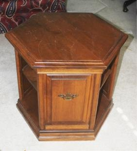 Vintage Octagonal End Table with Open Sides