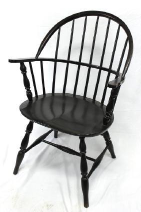 Antique Black Windsor Chair