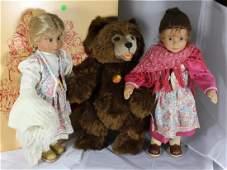 Steiff Teddy Bear - Snow White & Rose Red w/Bear-1