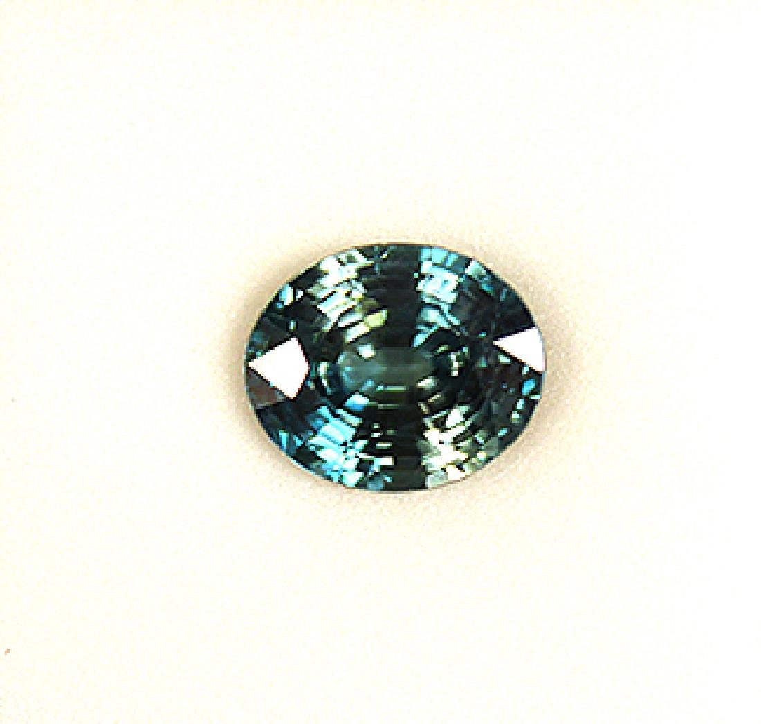6.62 CT Oval Cambodian Blue Zircon Gemstone