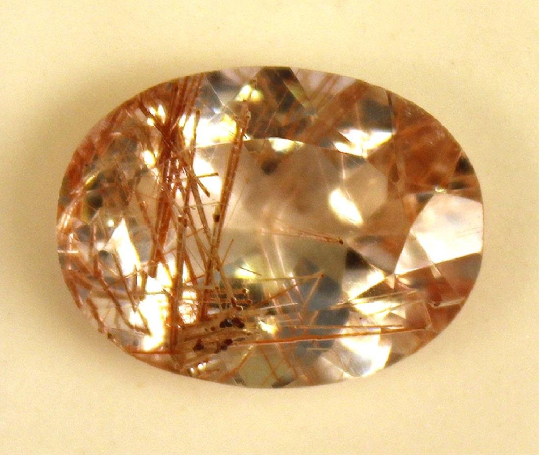14.82 CT Oval Rutilated Quartz Gemstone