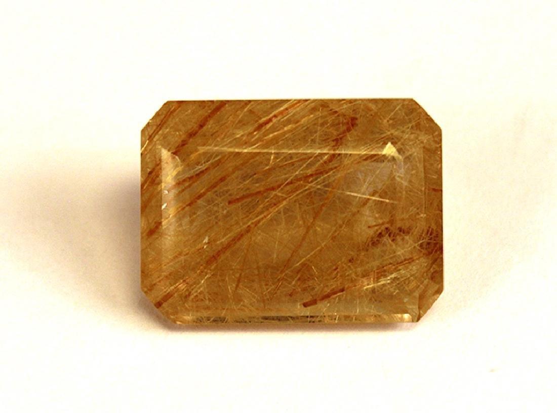 21.89 CT Brazilian Rutilated Quartz Gemstone