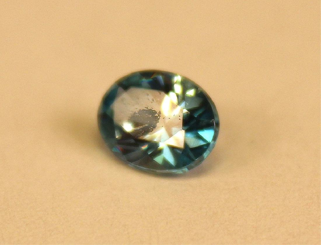 2.53 CT Oval Cambodian Blue Zircon Gemstone - 3