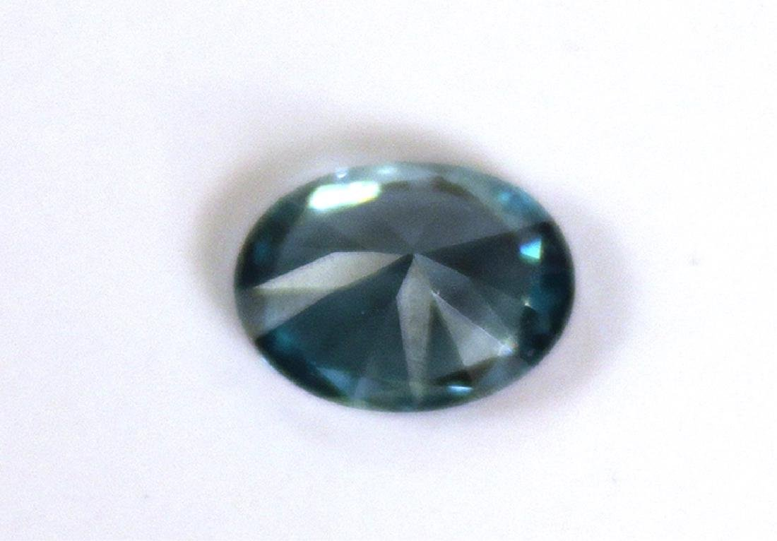 2.53 CT Oval Cambodian Blue Zircon Gemstone - 5