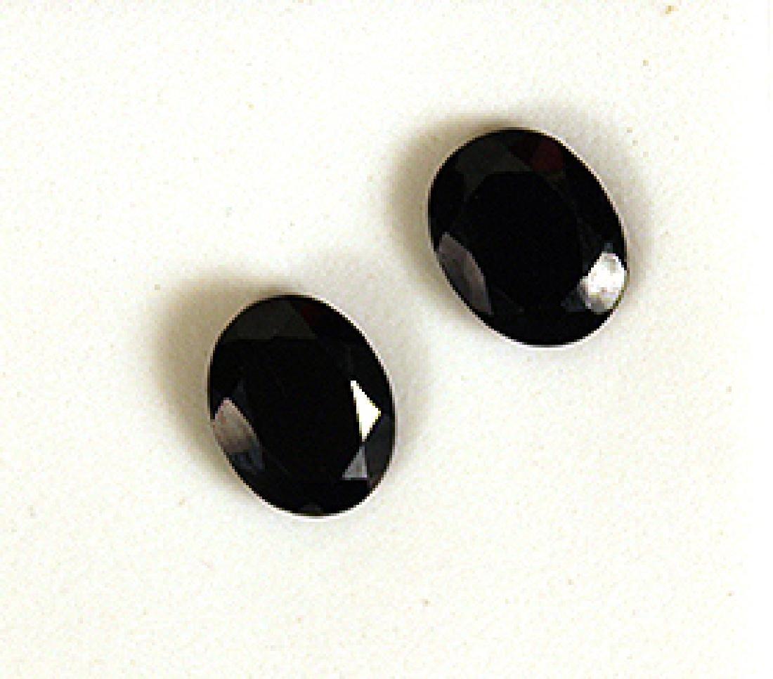 4.00 CTW MIN 9x7MM Black Spinel Gemstones Set of 2