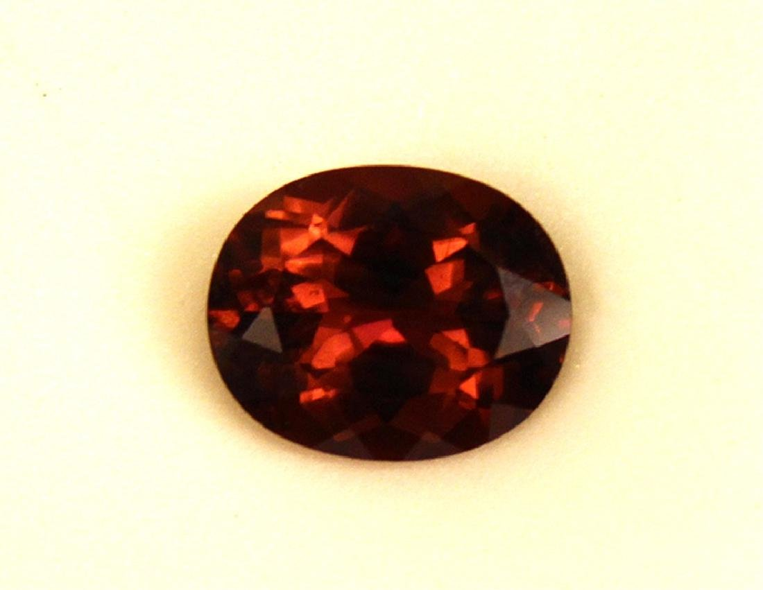 4.01 CT Oval Rubellite Tourmaline Gemstone