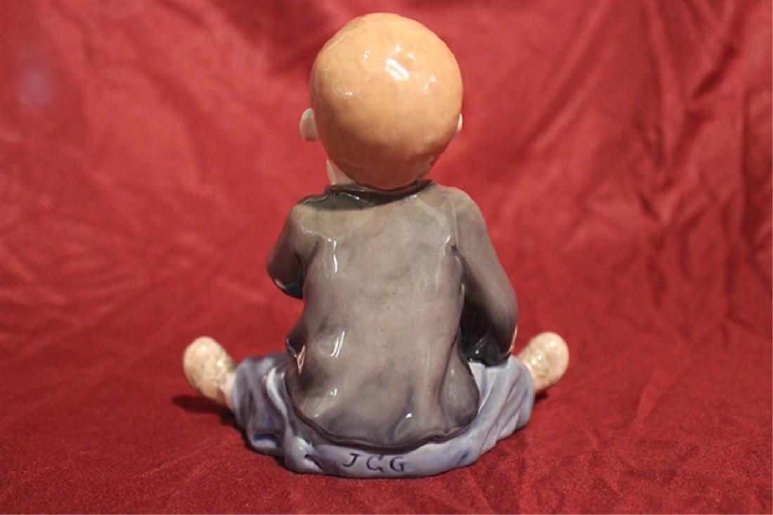 Royal Copenhagen Denmark Porcelain Little Boy - 4