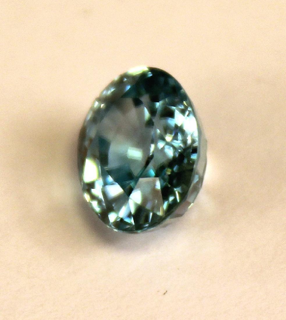 4.82 CT MIN 10x8MM Cambodian Blue Zircon Gemstone - 2