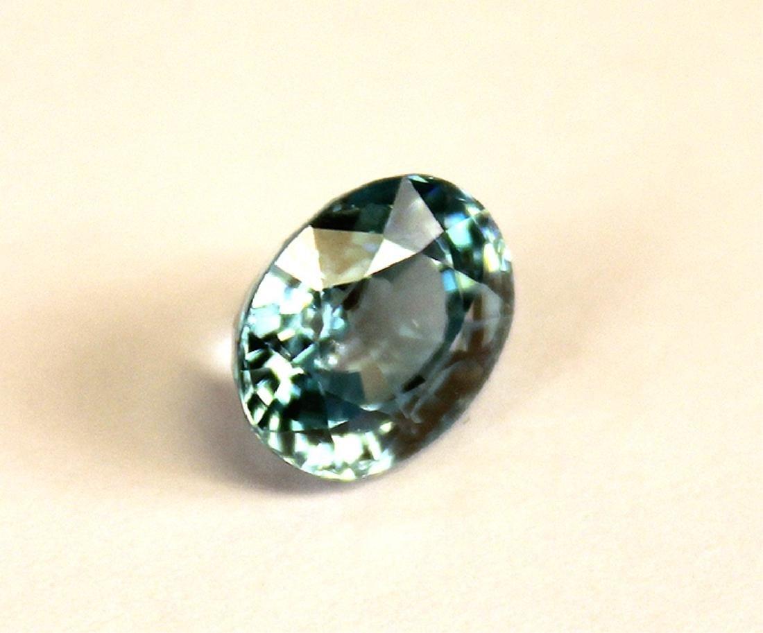 4.82 CT MIN 10x8MM Cambodian Blue Zircon Gemstone - 3