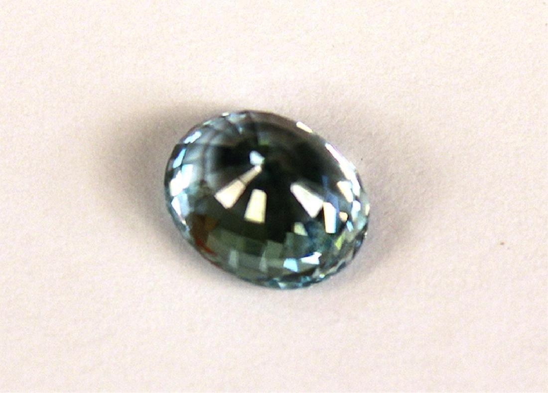 4.82 CT MIN 10x8MM Cambodian Blue Zircon Gemstone - 4