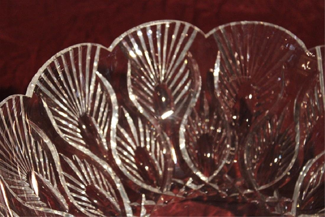 Waterford Crystal Peacock Centerpiece Bowl - 3