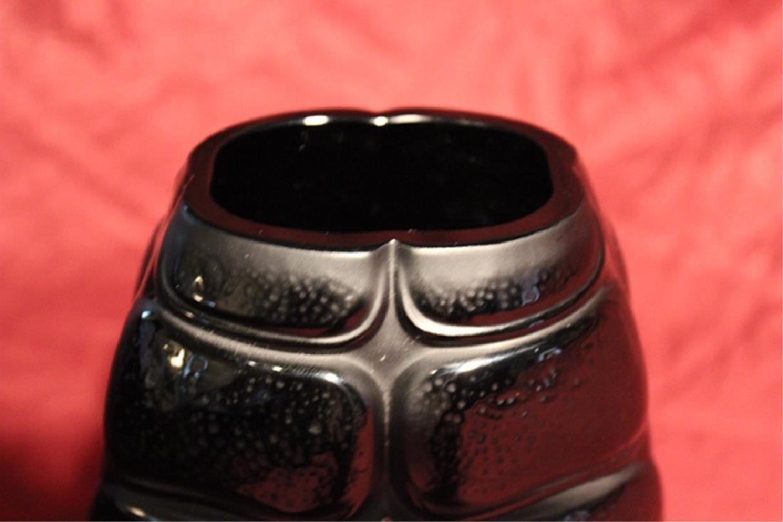 Lalique France Crystal Black Scarab Vase - 3