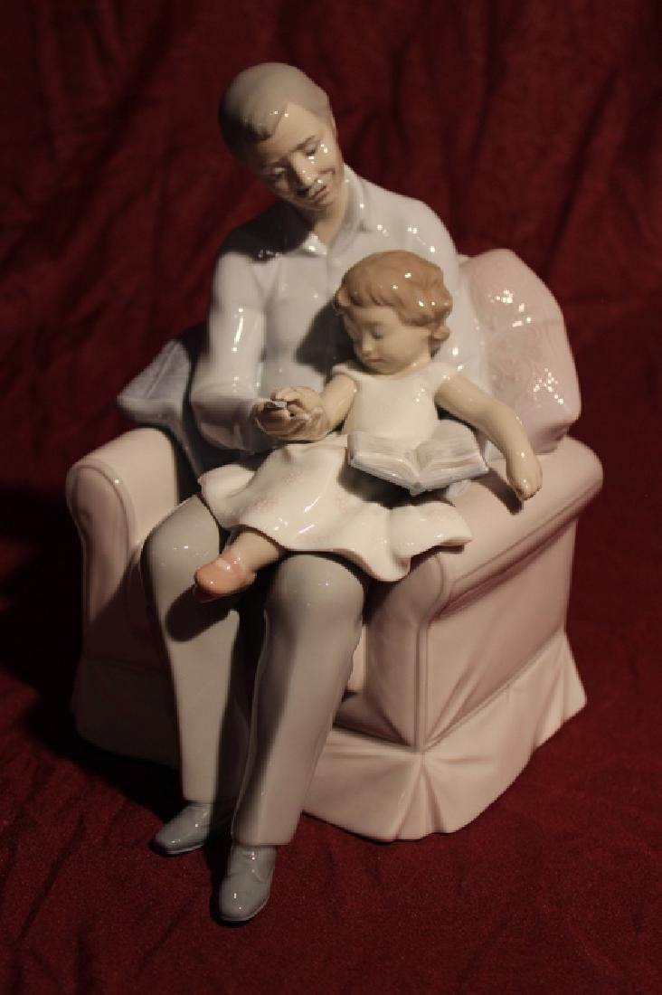Lladro Spain Father and Daughter