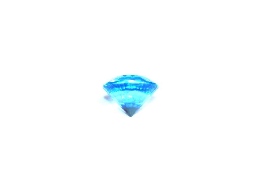 Approx 9.55 CT 14MM Swiss Blue Topaz Gemstone - 5