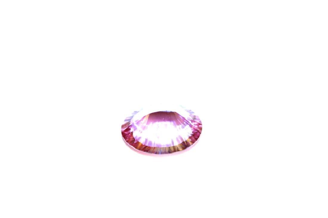 10.18 CT Oval Pink Topaz Gemstone - 4
