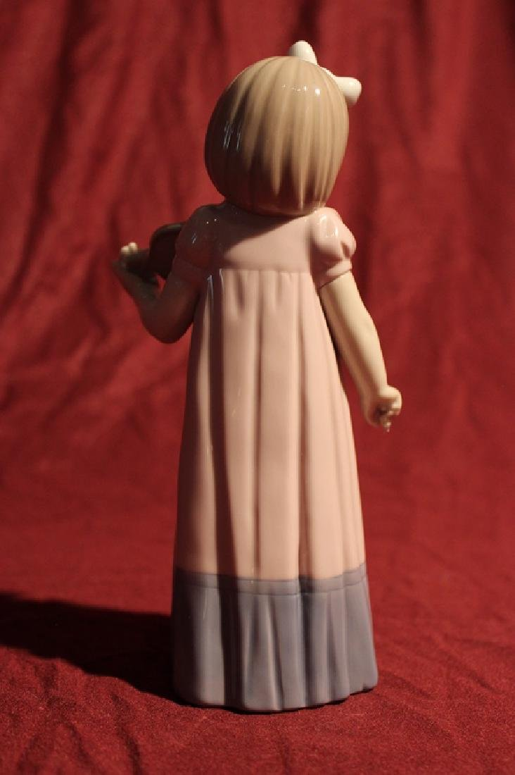 NAO by Lladro Spain Girl with Violin - 3