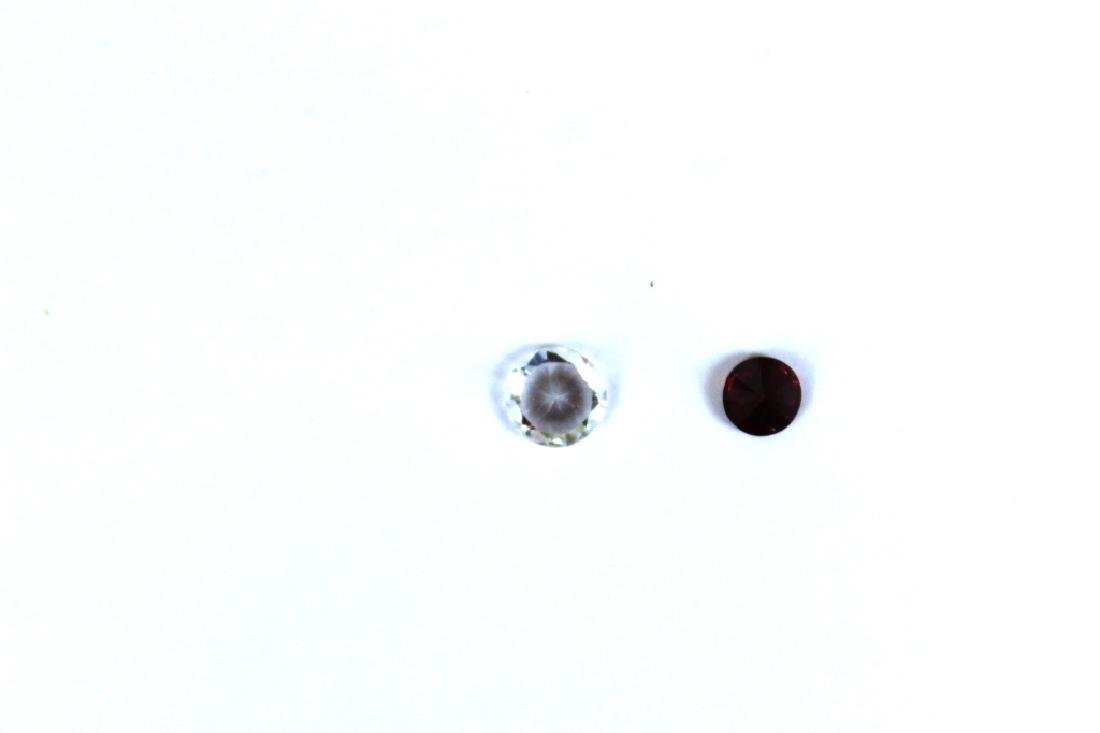 1.50 CT MIN 7.5MM White Zircon, .90 CT 6MM Red Zir - 5