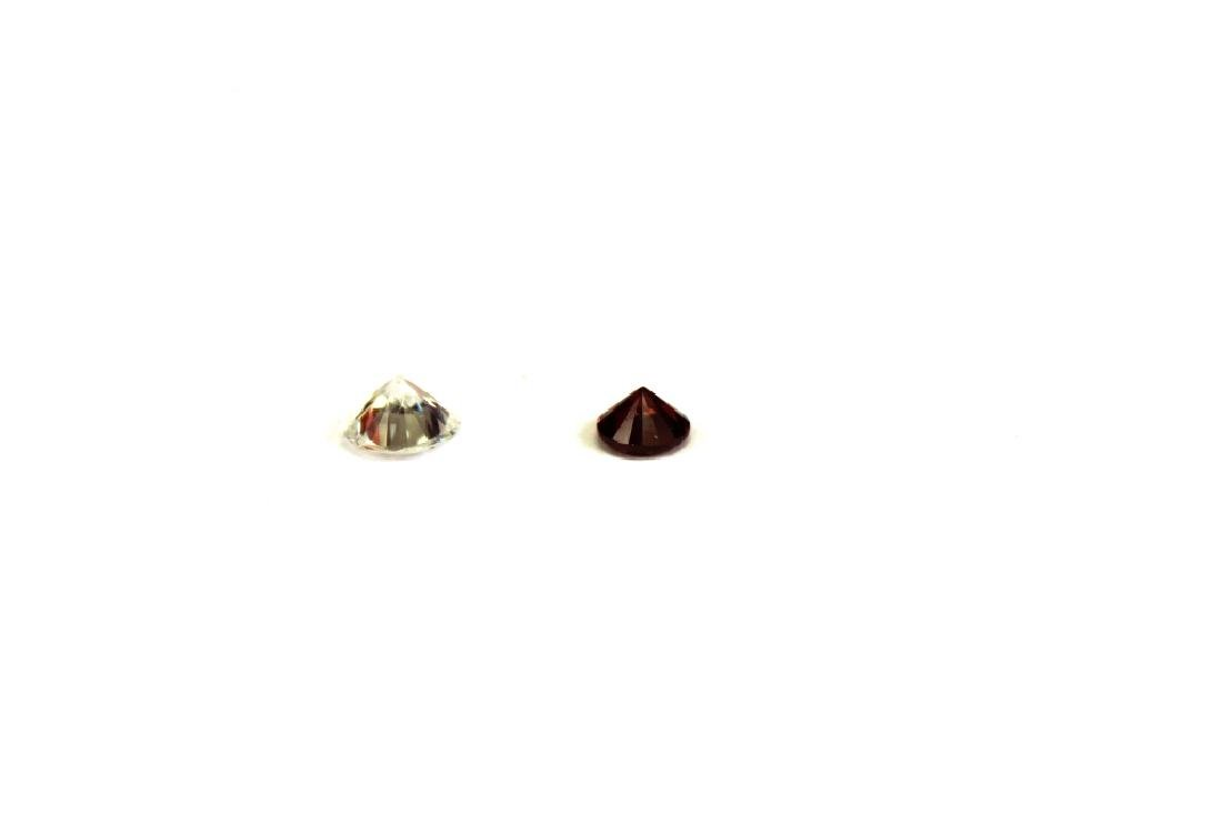 1.50 CT MIN 7.5MM White Zircon, .90 CT 6MM Red Zir - 4