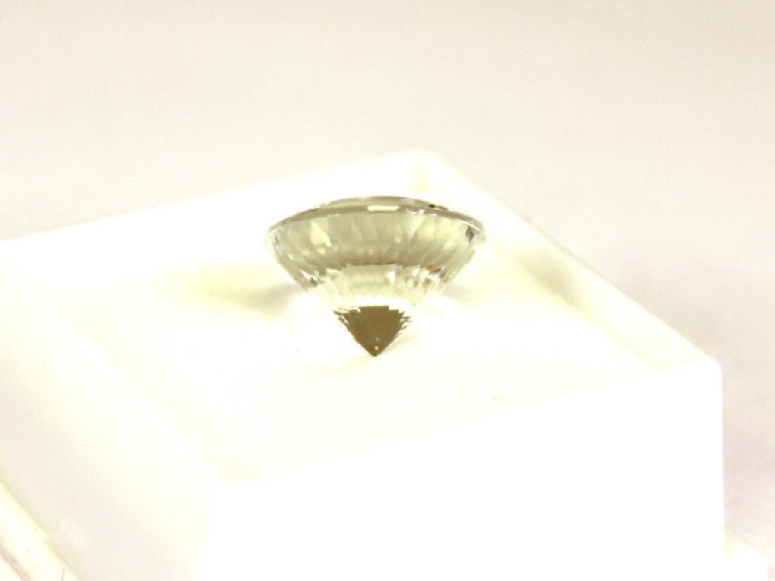 Approx. 9.10 CT 14MM Round White Topaz Gemstone - 3