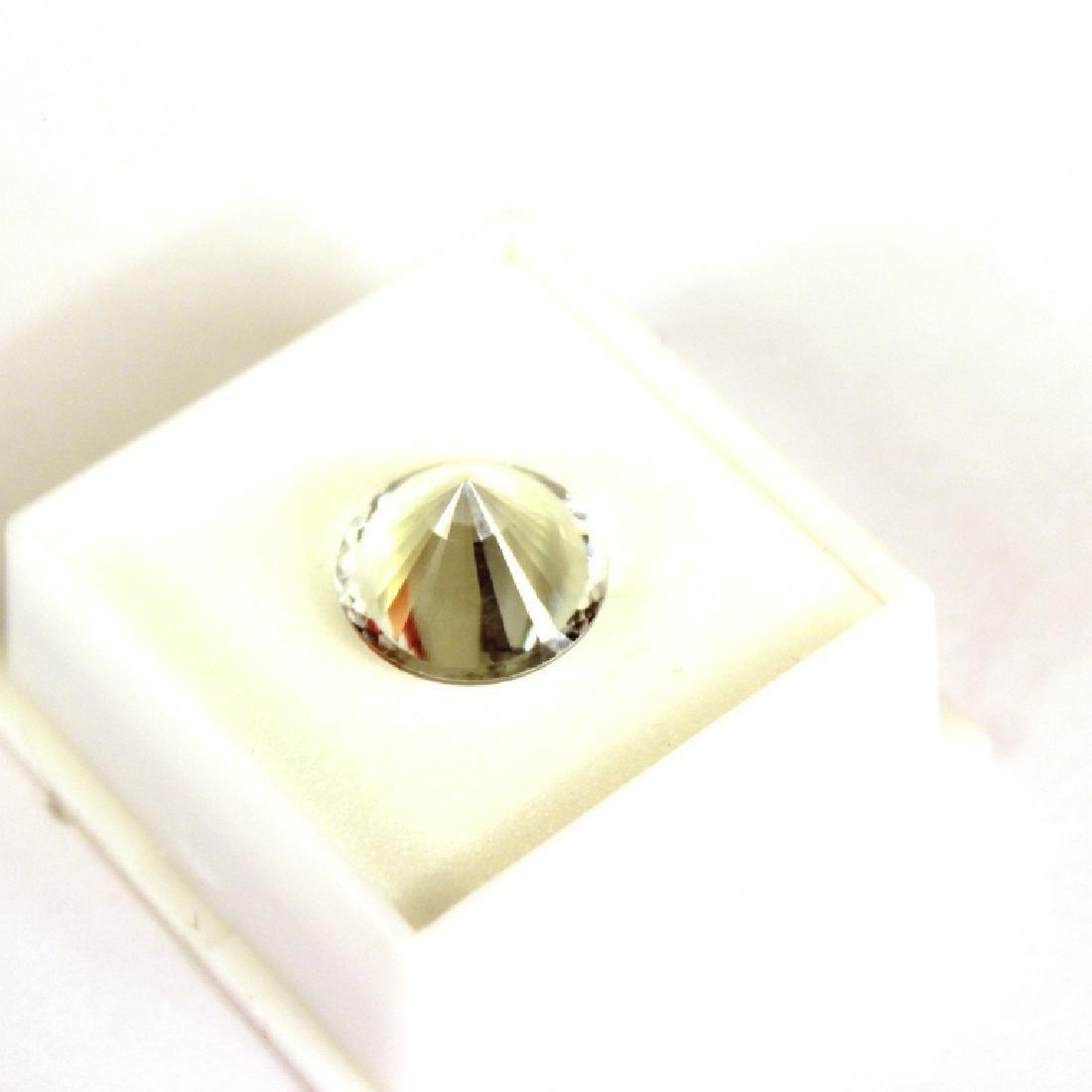 Approx. 9.10 CT 14MM Round White Topaz Gemstone - 4