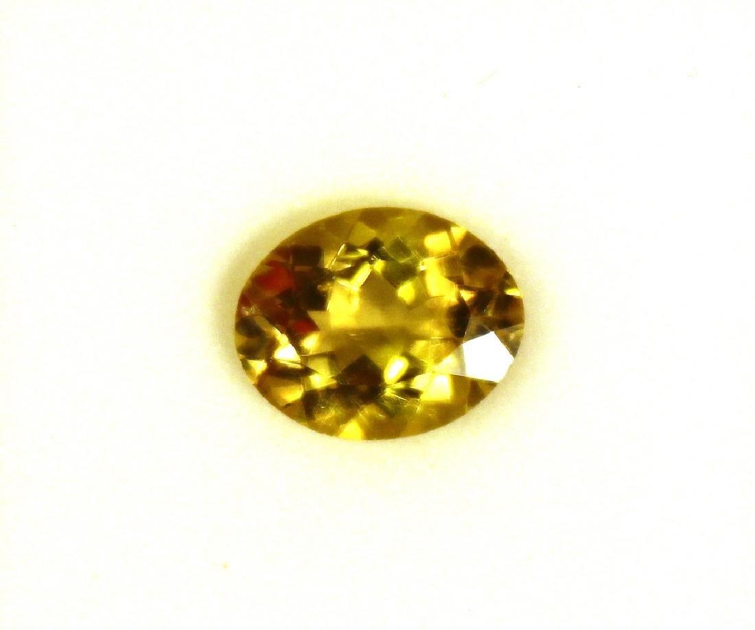 3.09 CT Oval Yellow Apatite Gemstone