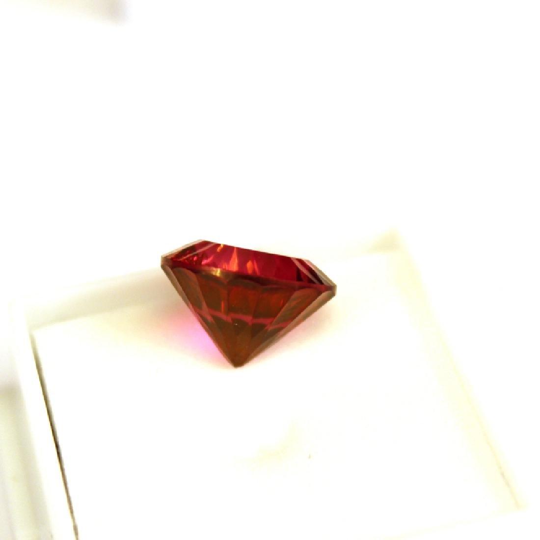 11.30 CT MIN 14MM Crimson Red Topaz Gemstone - 5