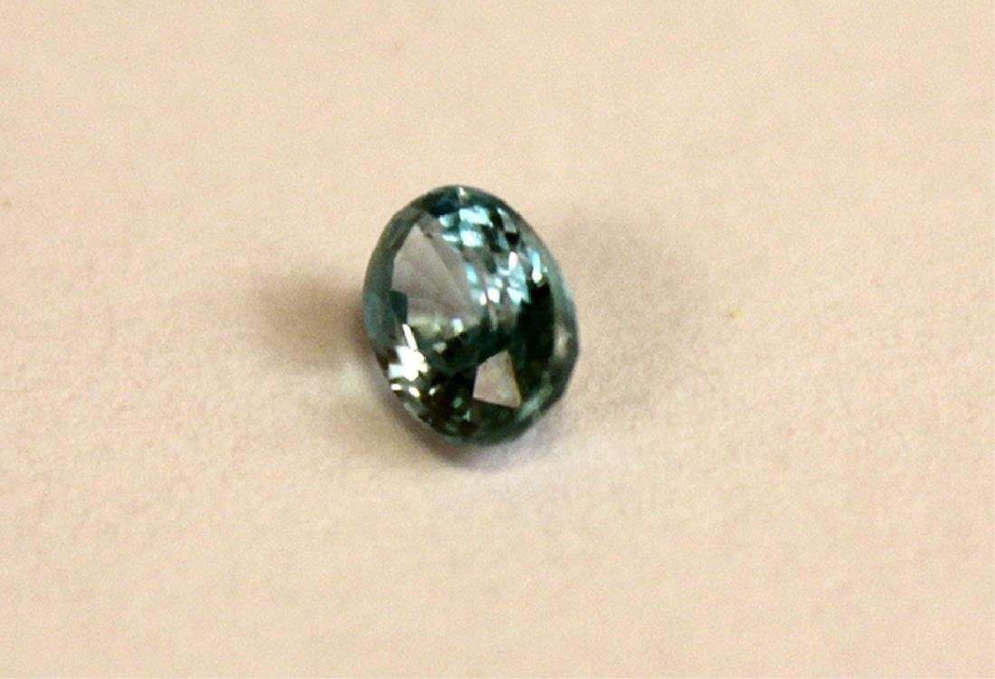 .65 CT MIN 6x4MM Blue Cambodian Zircon Gemstone - 2