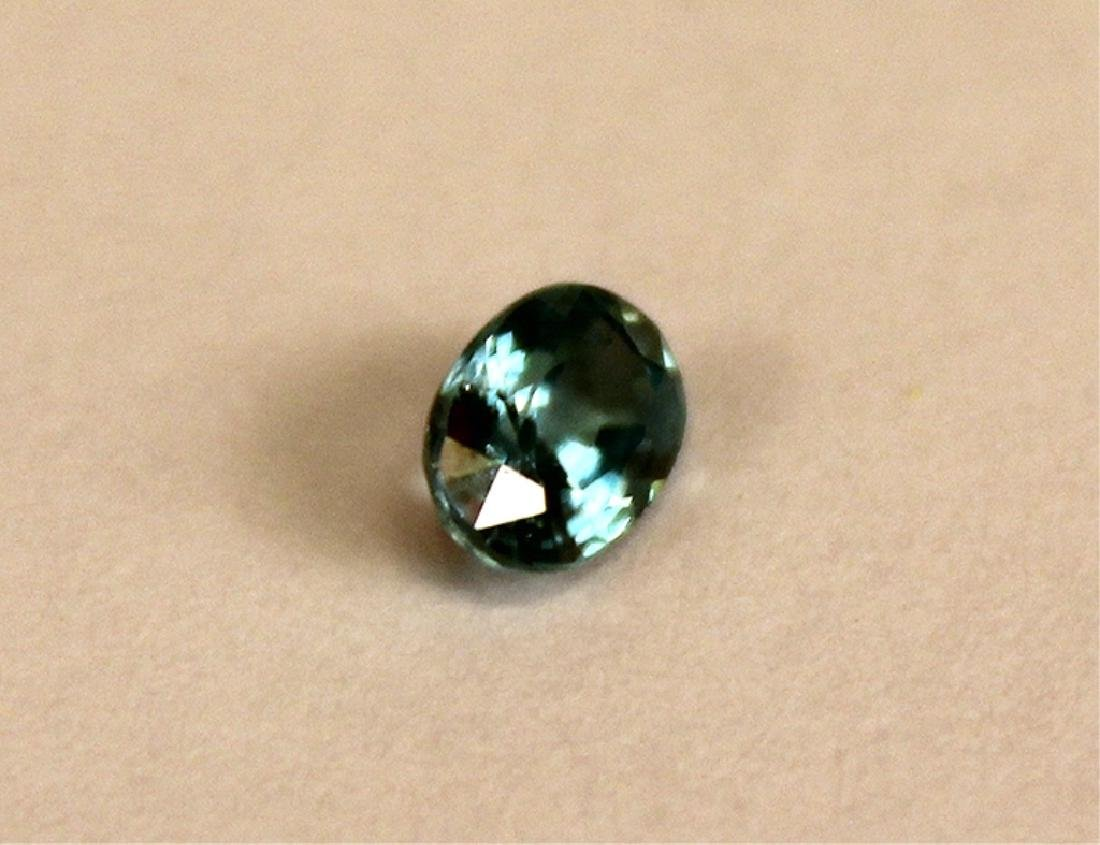 .65 CT MIN 6x4MM Blue Cambodian Zircon Gemstone - 3