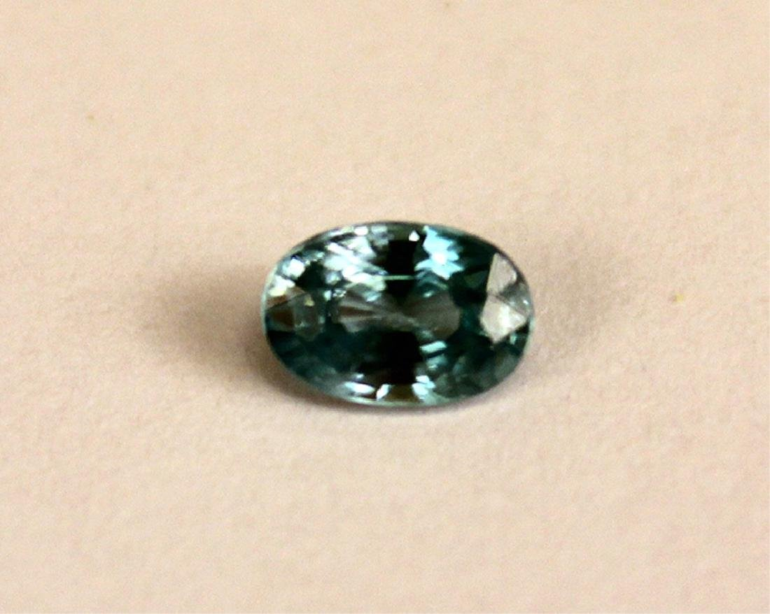 .65 CT MIN 6x4MM Blue Cambodian Zircon Gemstone