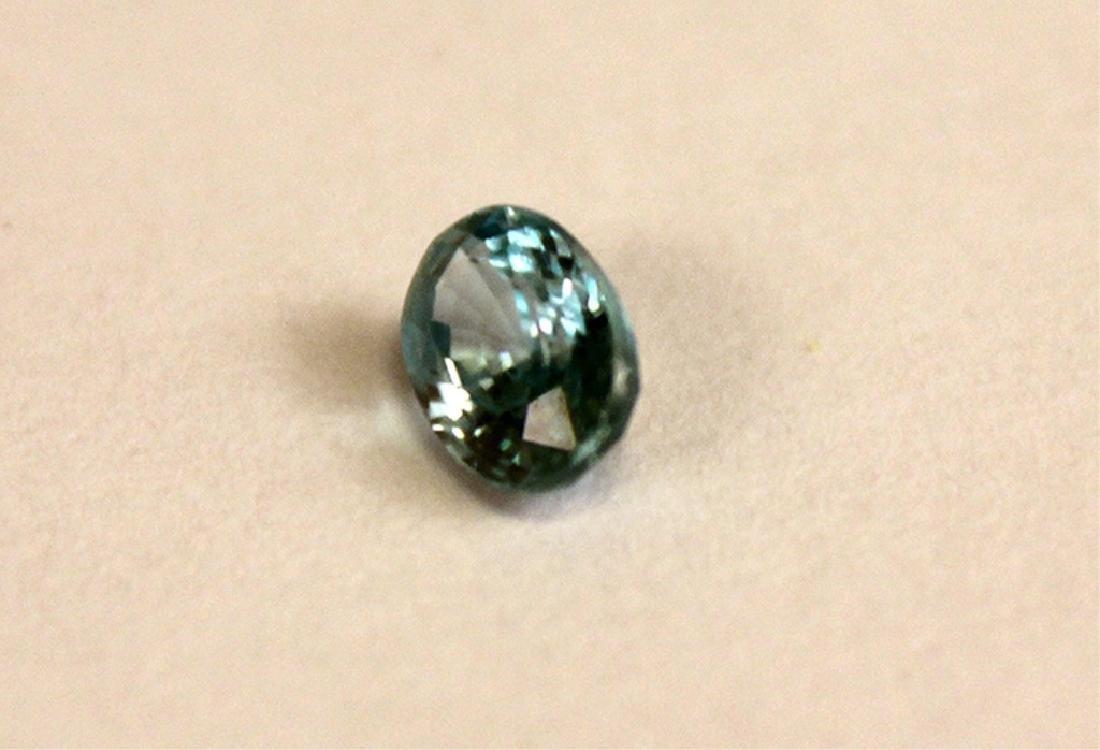 .65 CT MIN 6x4MM Blue Cambodian Zircon Gemstone - 2