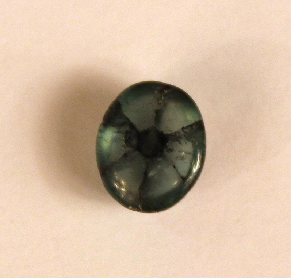 1.82 CT 8.73x6.48MM Colombian Trapiche Emerald Gem - 5