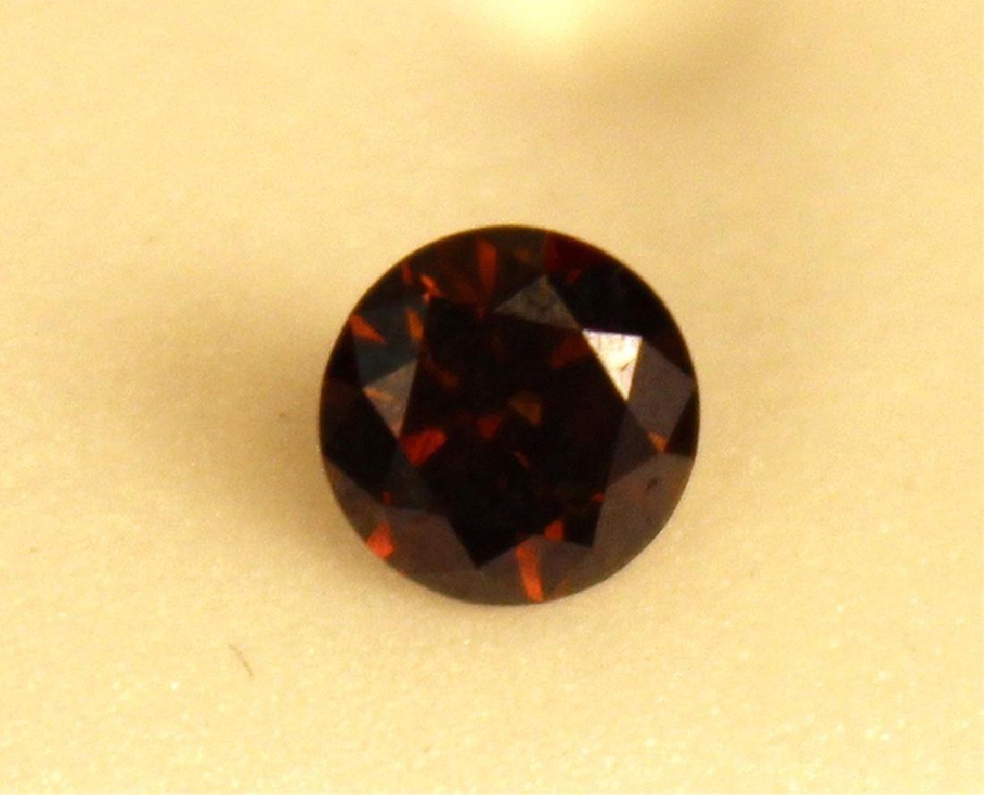 .70 CT 5.65MM Cognac Diamond Gemstone