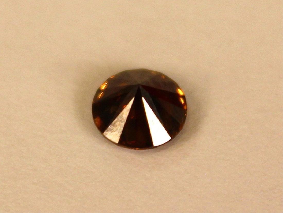 .70 CT 5.65MM Cognac Diamond Gemstone - 4