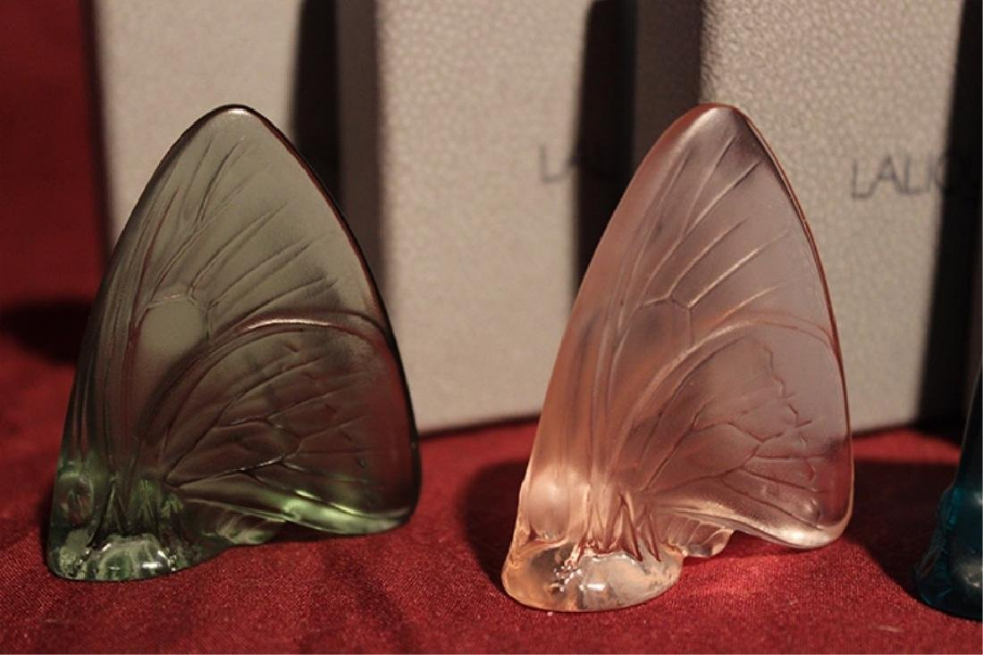 Set of 4 Lalique Crystal Butterflies - 2