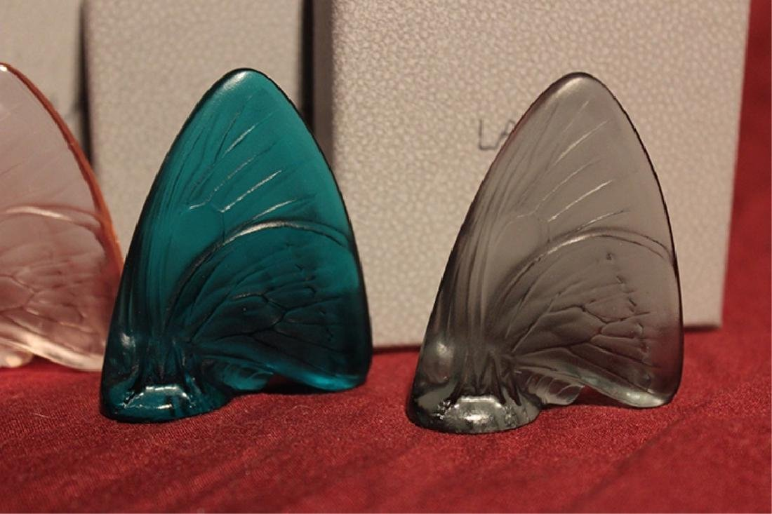 Set of 4 Lalique Crystal Butterflies - 3