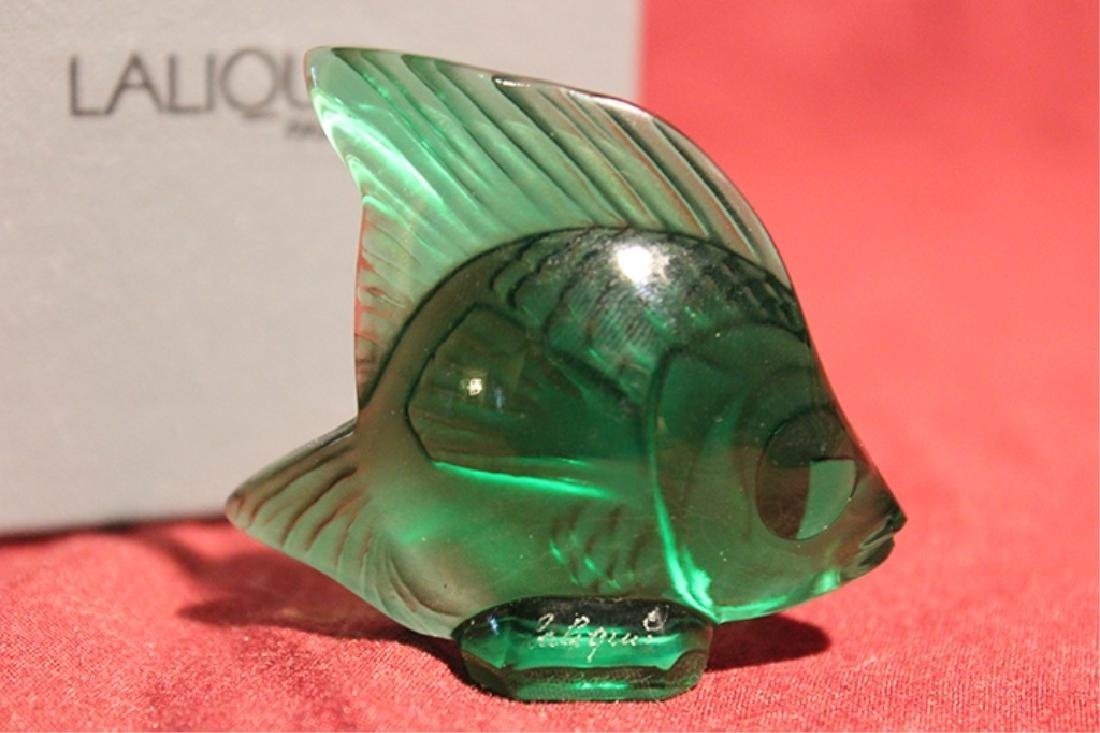 Lalique France Crystal Fish - 3