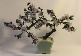 Oriental Stone Carved Bonsai Tree