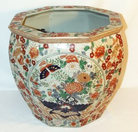 Octagonal Chinese Fish Pot Or Jardiniere