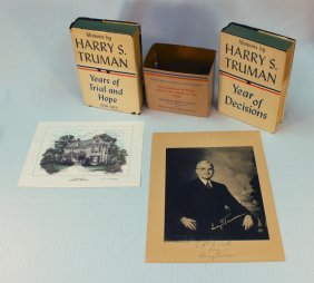 Signed Harry S. Truman Presidential Print