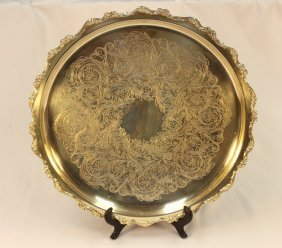 A Silver Plate Platter By Webster Wilcox