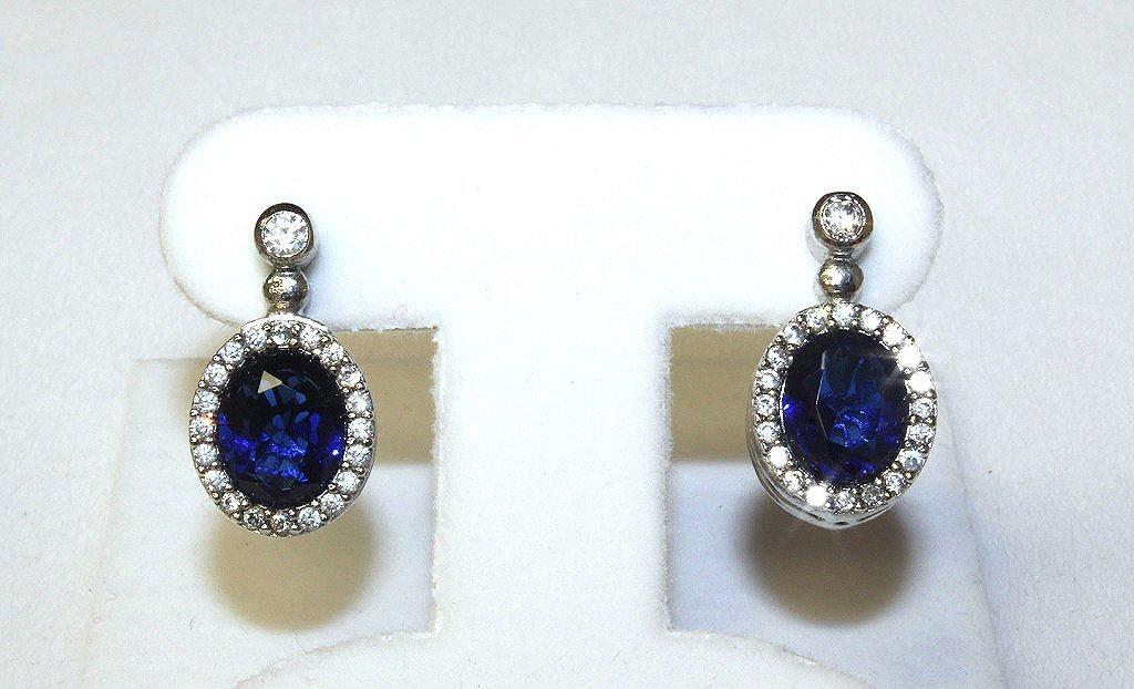 Sapphire estate earrings set in sterling silver