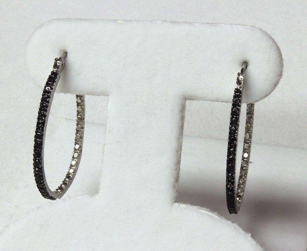 Black and white diamond estate earrings.