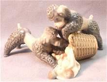 Lladro Spain Poodle Figurine