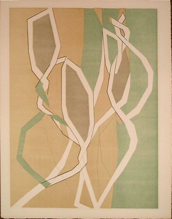 8: Andre BEAUDIN, orig. lithograph in colors of 1960
